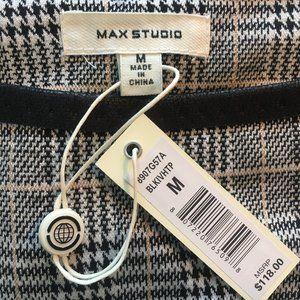 NWT Max Studio Knit Plaid Houndstooth Tunic Dress